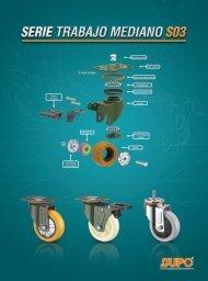 Catálogo de Ruedas de Serie de Trabajo Mediano Rodamientos Carbone