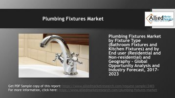 Will the Plumbing Fixtures Market grow till 2023?