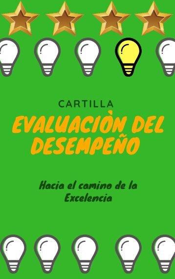 Cartilla de la Evaluación del desempeño  2