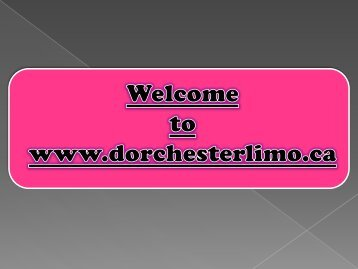 Hire London Limo Service from Dorchester Limo