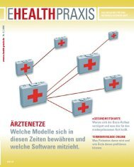PATIENTENAKTEN (II) Verrät die Praxis-EDV ... - E-Health-Com