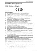 Sony VPCB11X9E - VPCB11X9E Documents de garantie Turc - Page 5