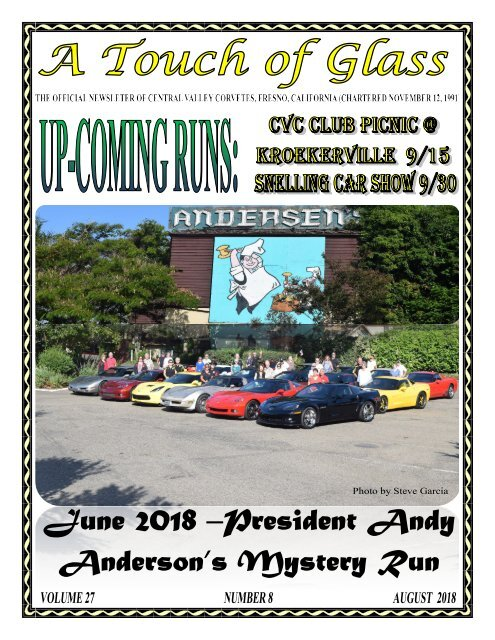 Central Valley Corvettes of Fresno - August 2018