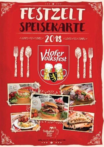 Hall'n-Speisekarte Volksfest 2018