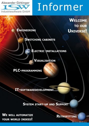 WELCOME TO OUR UNIVERSE! - ISW Industriesoftware Gmbh