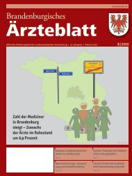 Ausgabe 02/2010 - Landesärztekammer Brandenburg