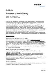 Guideline Leberenzymerhöhung