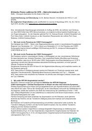Klinische Praxis Leitlinien für HFE - European Federation of ...