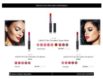 Oriflame disponibles