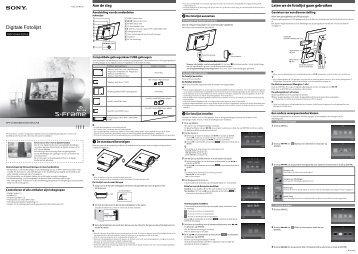 Sony DPF-C800 - DPF-C800 Consignes d'utilisation Néerlandais