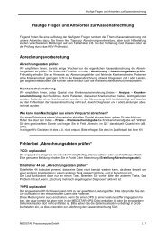 Häufige Fragen und Antworten zur Kassenabrechnung ... - Medistar