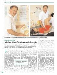 Schulmedizin trifft auf manuelle Therapie - Centrum für Orthopädie ...