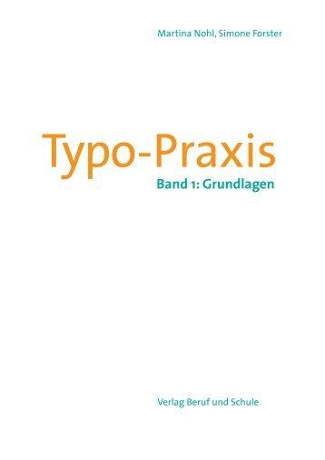 Leseprobe Typo-Praxis, Band 1: Grundlagen - PDF-Site