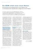 SGIM Bulletin 2-2010 - Schweizerische Gesellschaft für Innere Medizin - Seite 5