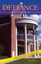Graduate Catalog (2012-2013) - Defiance College