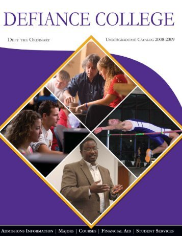 Academic Catalog 2008-2009 - Defiance College