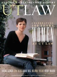 report celebrating 100 years womenat ut law - The University of ...