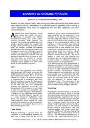 Additives in cosmetic products - Dermaviduals