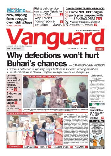 26072018 - Why defections won't hurt Buhari's chances — CAMPAIGN ORGANIZATION
