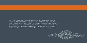 Praxisbroschüre (PDF) - Zahnarzt Frankfurt