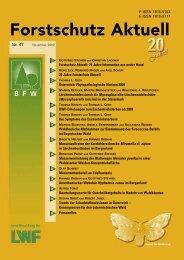 Forstschutz Aktuell: 20 Jahre Information aus erster Hand - BFW