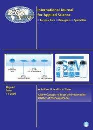 International Journal for Applied Science - Schülke & Mayr