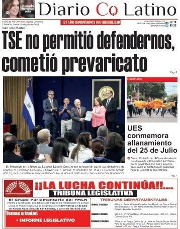 Edición 26 de Julio de 2018