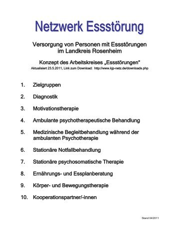 Netzwerk Eßstörungen Landkreis Rosenheim - drleibl.de