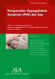 Peripartales Hypogalaktie Syndrom (PHS) der Sau - und Veterinär ...