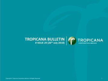 Tropicana Bulletin Issue 29