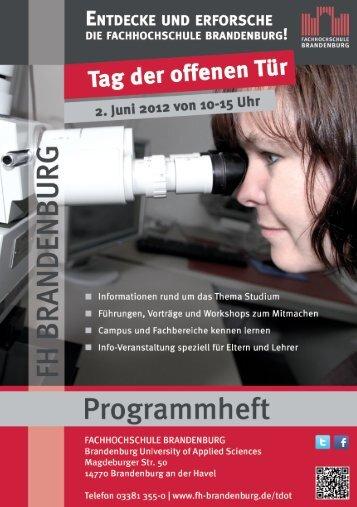 Programmheft - Fachhochschule Brandenburg