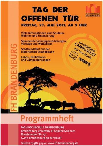 Der Fachbereich Technik - Fachhochschule Brandenburg
