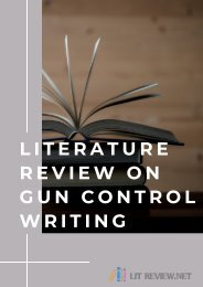 Literature Review on Gun Control Writing