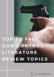 Unique Gun Control Literature Review Topics