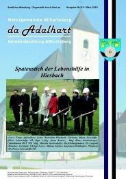 Spatenstich der Lebenshilfe in Hiesbach - Marktgemeinde ...
