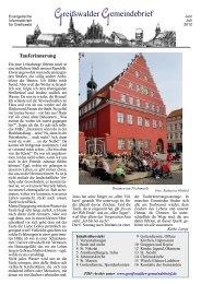 Greifswalder Gemeindebrief: Juni/Juli 2012 (2,5 MB