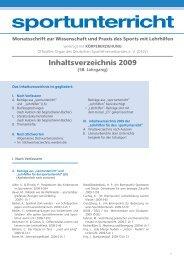 Inhaltsverzeichnis 2009 - Hofmann Verlag