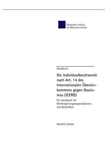 Die Individualbeschwerde nach Art. 14 - Deutsches Institut für ...