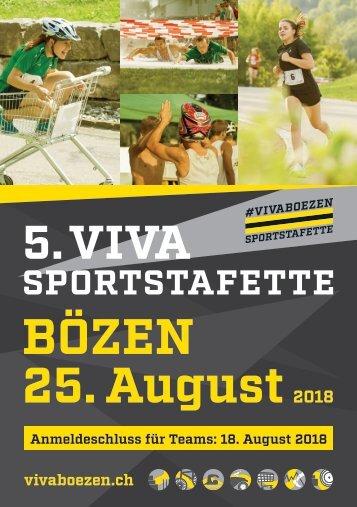 5. VIVA Sportstafette 25. August 2018 - Festführer