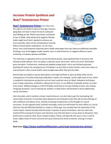 Increase Your Testosterone Level and Feel power in body with RawT Testosterone Primer