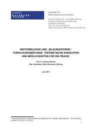 """weiterbildung und """"bildungsferne"""". - Landesarbeitsgemeinschaft für ..."""