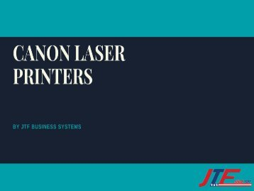 Canon Laser Printers High-End Printing Capabilities