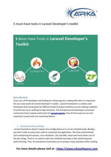 Laravel Developer toolkit