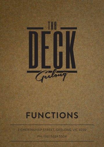 deck geelong functions booklet