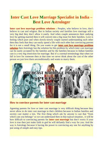 Intercast Love Marriage Problem Solution | Love Marriage Problem Solution