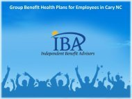 Group Benefit Health Plans for Employees in Cary NC
