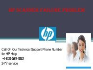 HP Scanner Failure Problem +1-800-597-1052