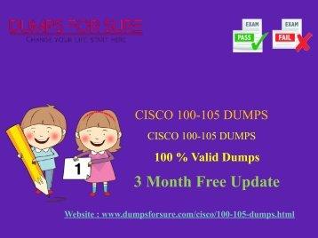 Cisco 100-105 Dumps