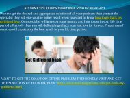 How To Get Back My Girlfriend Love