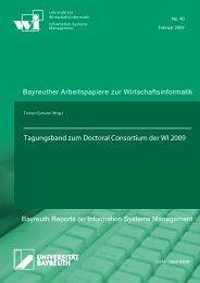 Tagungsband zum Doctoral Consortium der WI 2009